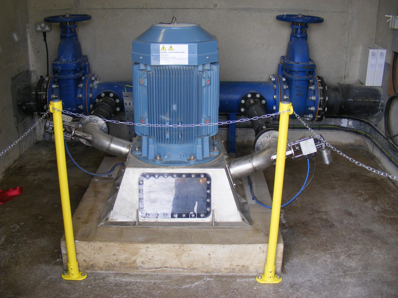 Gate valves, spear valves, Turbine and generator