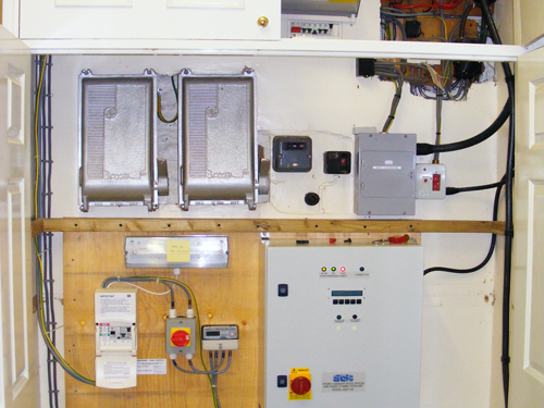 Control unit and total generation meter.